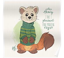 Percy the Pine Marten Poster