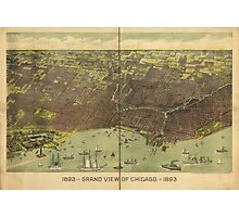 1893 Grand View of Chicago Illinois Photographic Print