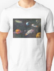 1960's Outer Space Adventure Unisex T-Shirt