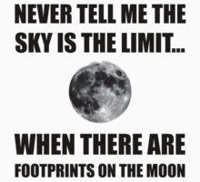 Footprints On The Moon One Piece - Short Sleeve