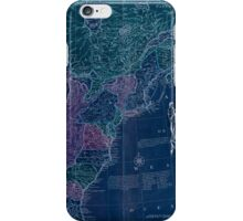 American Revolutionary War Era Maps 1750-1786 351 Bowles's new pocket map of the United States of America the British possessions of Canada Nova Scotia and Inverted iPhone Case/Skin