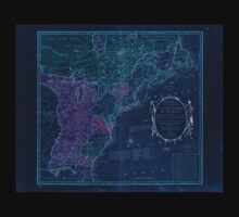 American Revolutionary War Era Maps 1750-1786 351 Bowles's new pocket map of the United States of America the British possessions of Canada Nova Scotia and Inverted Kids Tee