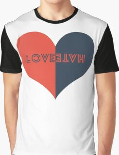 Love / Hate Graphic T-Shirt