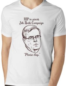 Please Clap Mens V-Neck T-Shirt