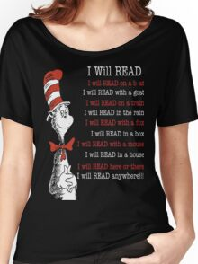 I Will Read - Read Across America Day 2016 Women's Relaxed Fit T-Shirt
