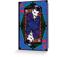 Gomez.The King Of Hearts. Greeting Card