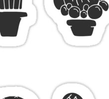 Pattern - Cactuses in the pots Sticker
