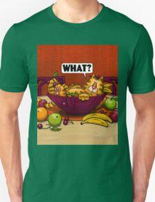 WHAT CAT in fruit bowl Unisex T-Shirt