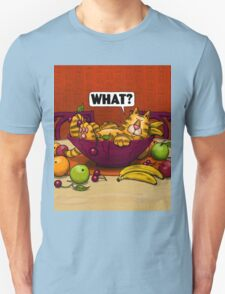 WHAT CAT in fruit bowl Unisex T-Shirt
