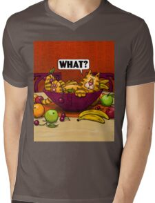 WHAT CAT in fruit bowl Mens V-Neck T-Shirt