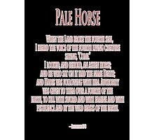 Pale Horse, When the Lamb broke the Fourth Seal, Four Horsemen of the Apocalypse Photographic Print