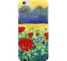 Poppies Landscape iPhone Case/Skin