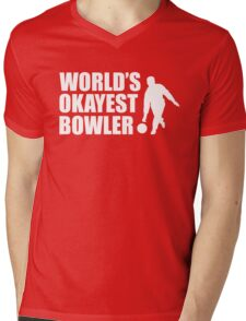 World's Okayest Bowler Mens V-Neck T-Shirt