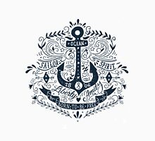 Nautical vintage label with an anchor and hand lettering. Unisex T-Shirt