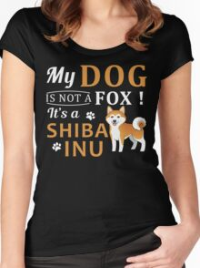 Shiba Inu Dog is not a Fox Women's Fitted Scoop T-Shirt