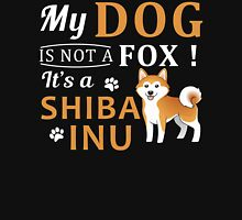 Shiba Inu Dog is not a Fox Womens Fitted T-Shirt