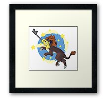 Star Lion Framed Print