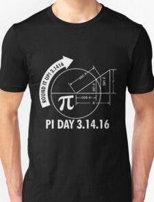 Pi Day 2016 3.1416 Round It Up Math T-Shirt