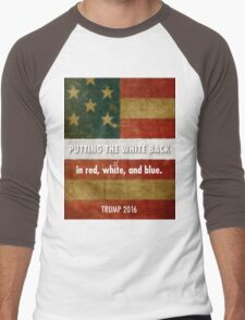 red, white and blue Men's Baseball ¾ T-Shirt