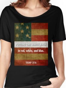 red, white and blue Women's Relaxed Fit T-Shirt