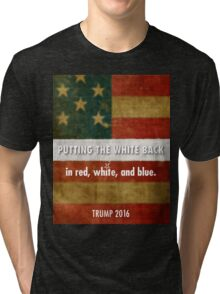 red, white and blue Tri-blend T-Shirt