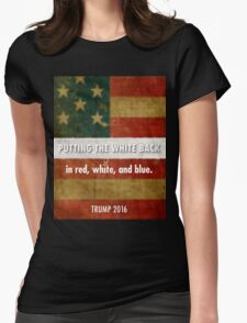 red, white and blue Womens Fitted T-Shirt