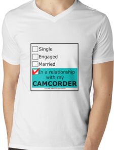 In A Relationship With My Camcorder Mens V-Neck T-Shirt