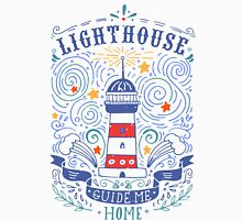 Nautical vintage label with a lighthouse and hand lettering Unisex T-Shirt