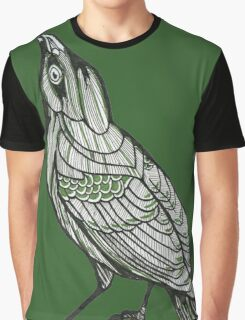 Green Sparrow Graphic T-Shirt