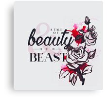 The tale of a beauty and her beast. Canvas Print