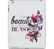 The tale of a beauty and her beast. iPad Case/Skin