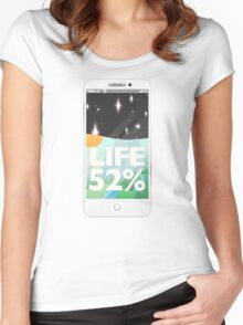 Charge Your Life  Women's Fitted Scoop T-Shirt