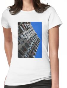 Modern city living Womens Fitted T-Shirt
