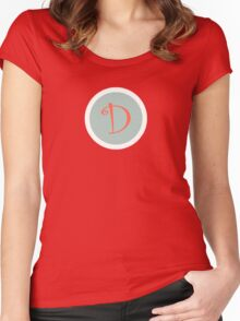 D Simple Women's Fitted Scoop T-Shirt