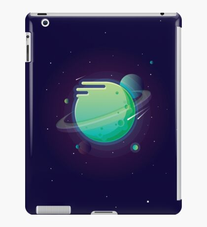 Green planet iPad Case/Skin