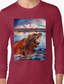 Grizzly Bear Painting Long Sleeve T-Shirt