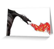 Fire Breathing Dragon Greeting Card