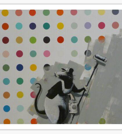 Banksy Does Damien Hirst Sticker