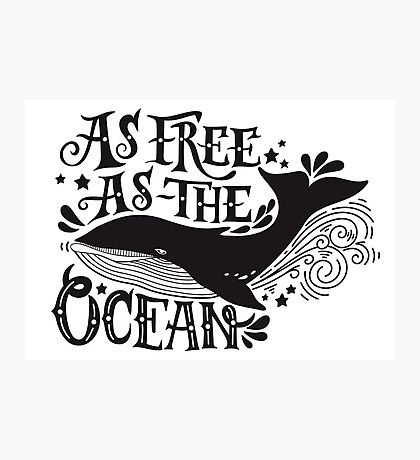 As free as the ocean.  Photographic Print