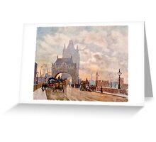 Herbert Menzies Marshall - Tower of London Bridge Greeting Card