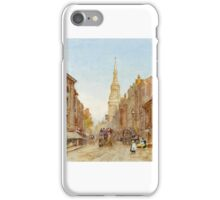 Herbert Menzies Marshall - View of Church of Mary-le-Bow, Cheapside iPhone Case/Skin