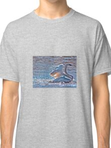 Splashing Swan. Classic T-Shirt