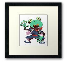 False frog Framed Print