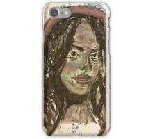 Girl with magical eyes  iPhone Case/Skin
