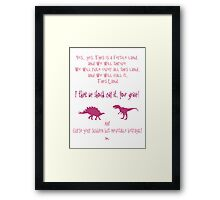 curse your sudden but inevitable betrayal, firefly, fuchsia Framed Print