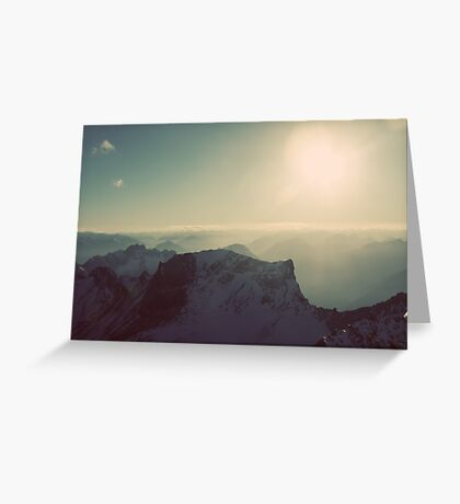 Zugspitze germany mountain alps outside color photo Greeting Card