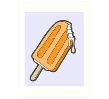 Orange Summer Popsicle Art Print