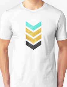 green gold and black chevron Unisex T-Shirt