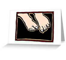 Freeing Tired Feet COLORIZED Greeting Card