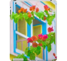 Colored Flowers in Front of  Windows House iPad Case/Skin